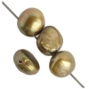 Freshwater Pearl Round Flat 7-8mm Gold